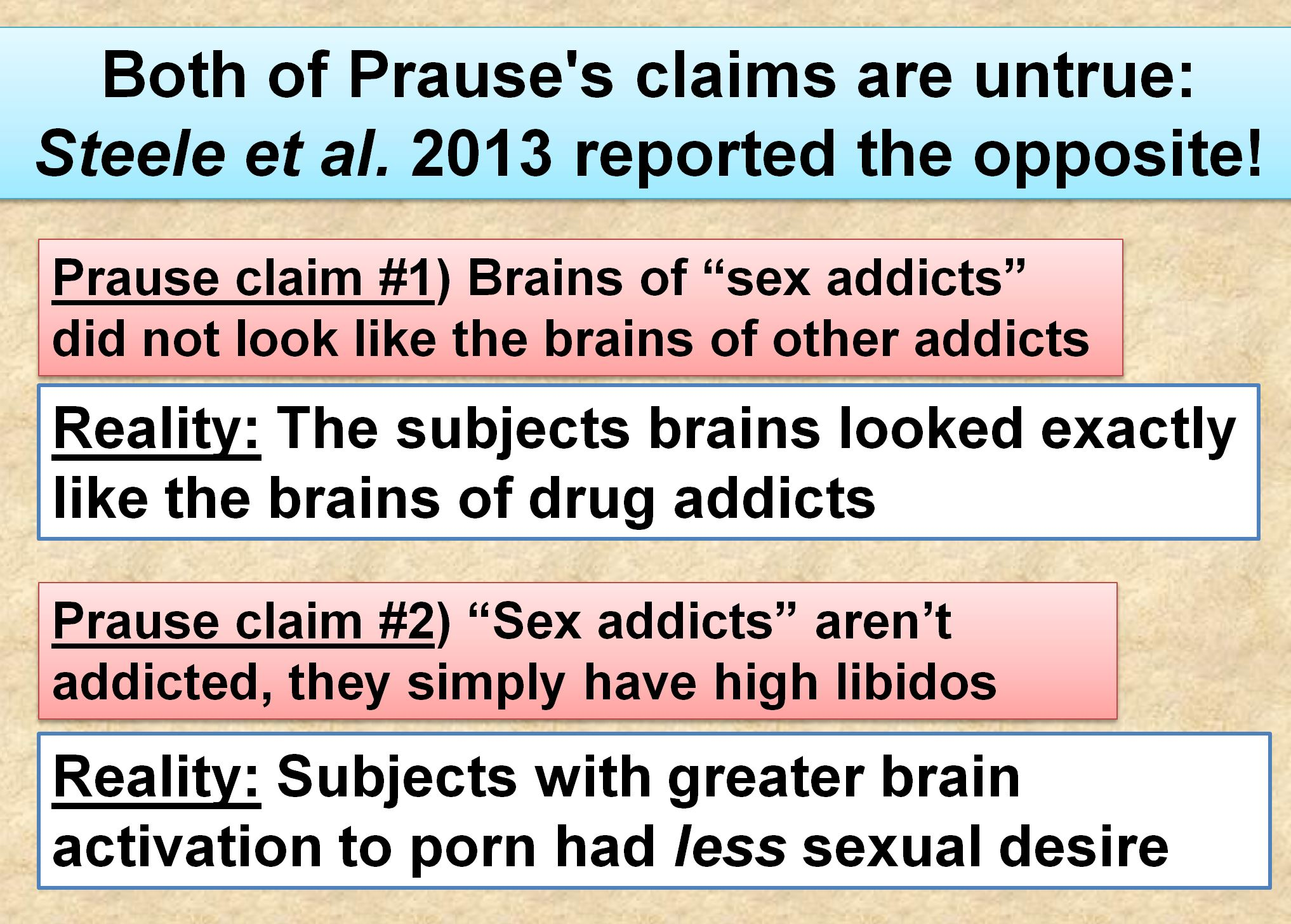 BOTH OF PRAUSE'S CLAIMS ARE UNTRUE